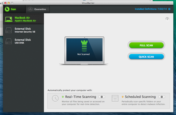 Screen shot of Intego Antivirus
